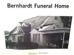 Bernhardt Funeral Home in 1969 photo